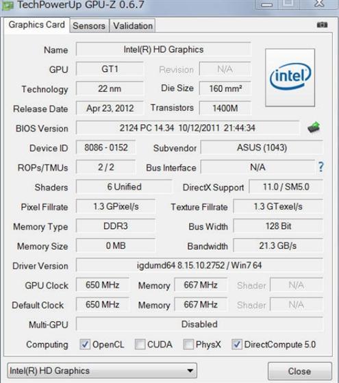 Celeron G1610 GPU-Z