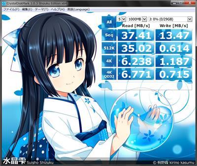 東芝 microSDHC 32GB ベンチ