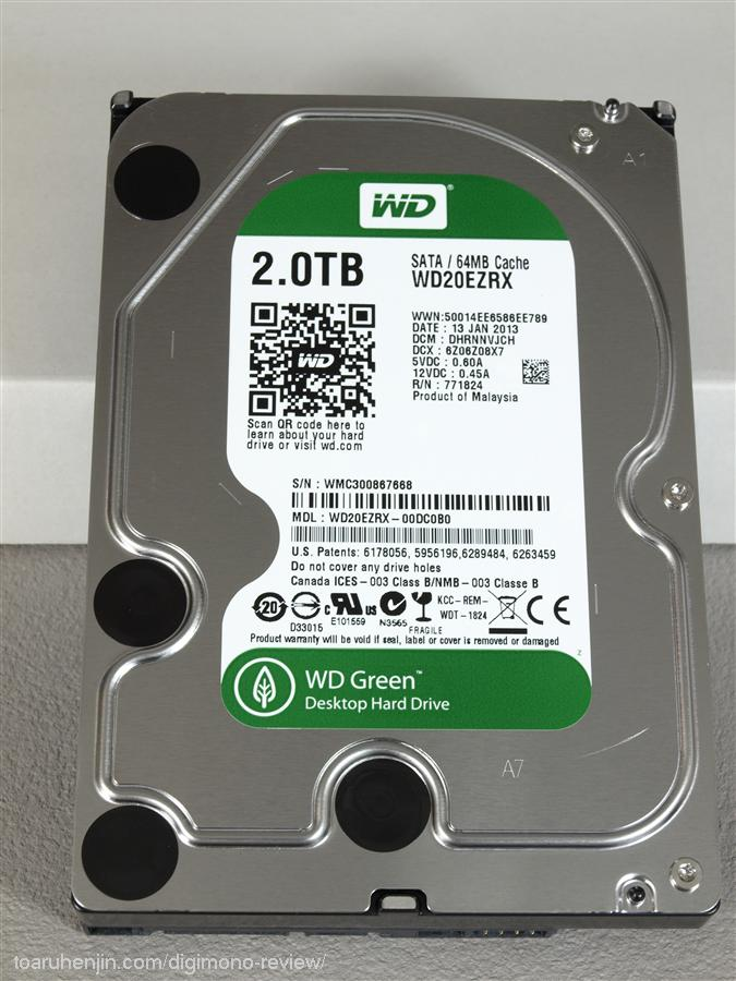 WD 2TB HDD WD20EZRX 2